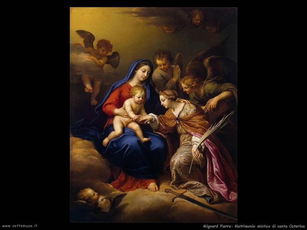 mignard pierre Matrimonio mistico di santa Caterina