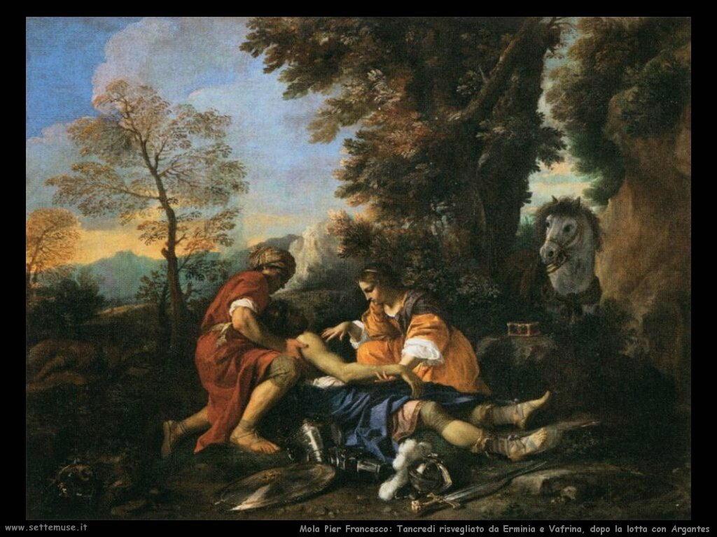 mola pier francesco Tancredi risvegliato da Erminia e Vafrina, dopo la lotta con Argantes