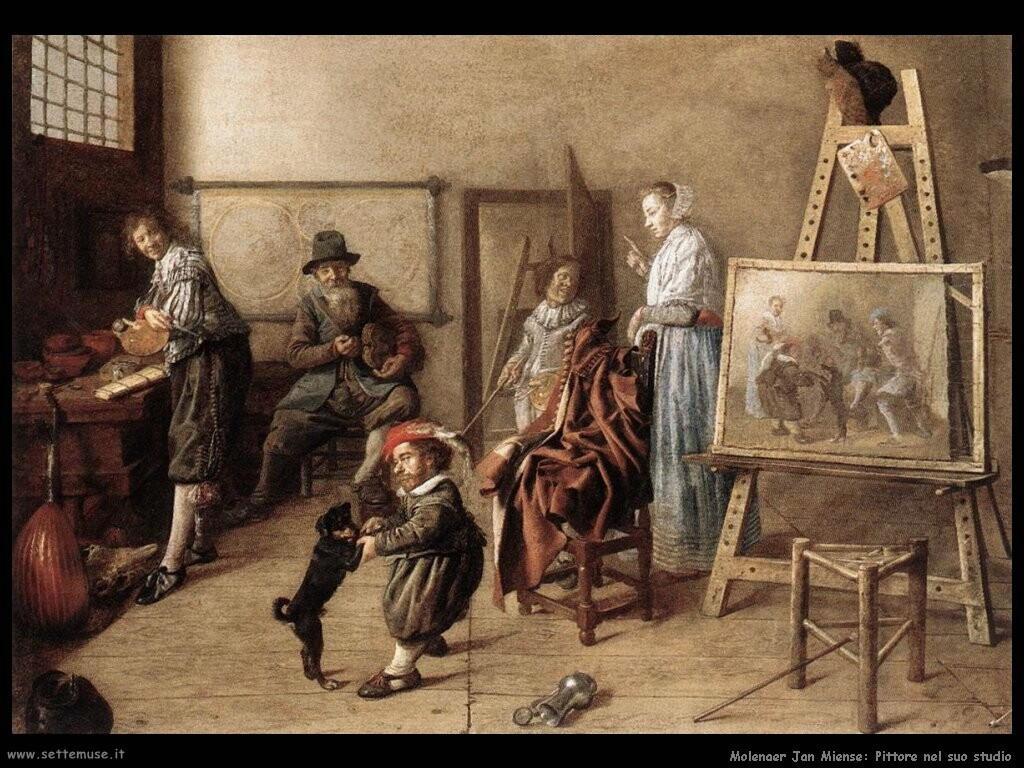 molenaer jan miense Pittore nel suo studio