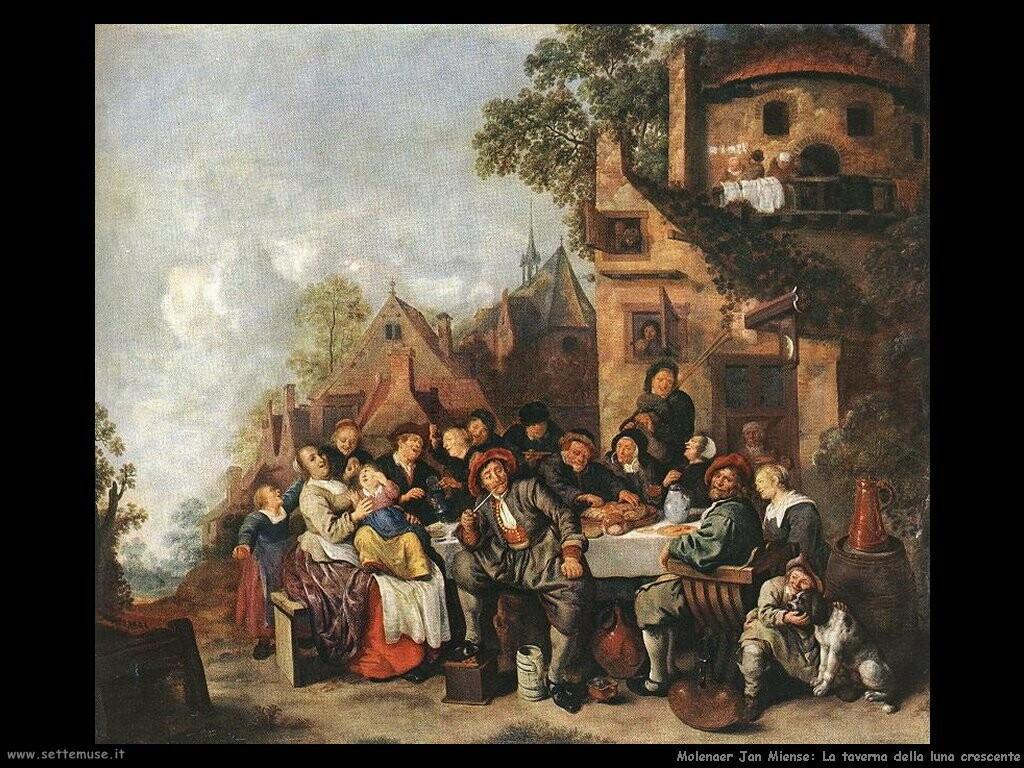 molenaer jan miense Taverna della luna crescente
