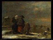 molenaer jan miense Paesaggio invernale con mulino