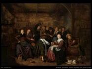 molenaer jan miense Paesani in una taverna che giocano con le mani
