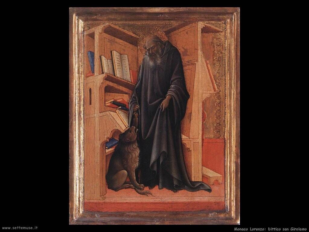 monaco lorenzo  Dittico di san Girolamo