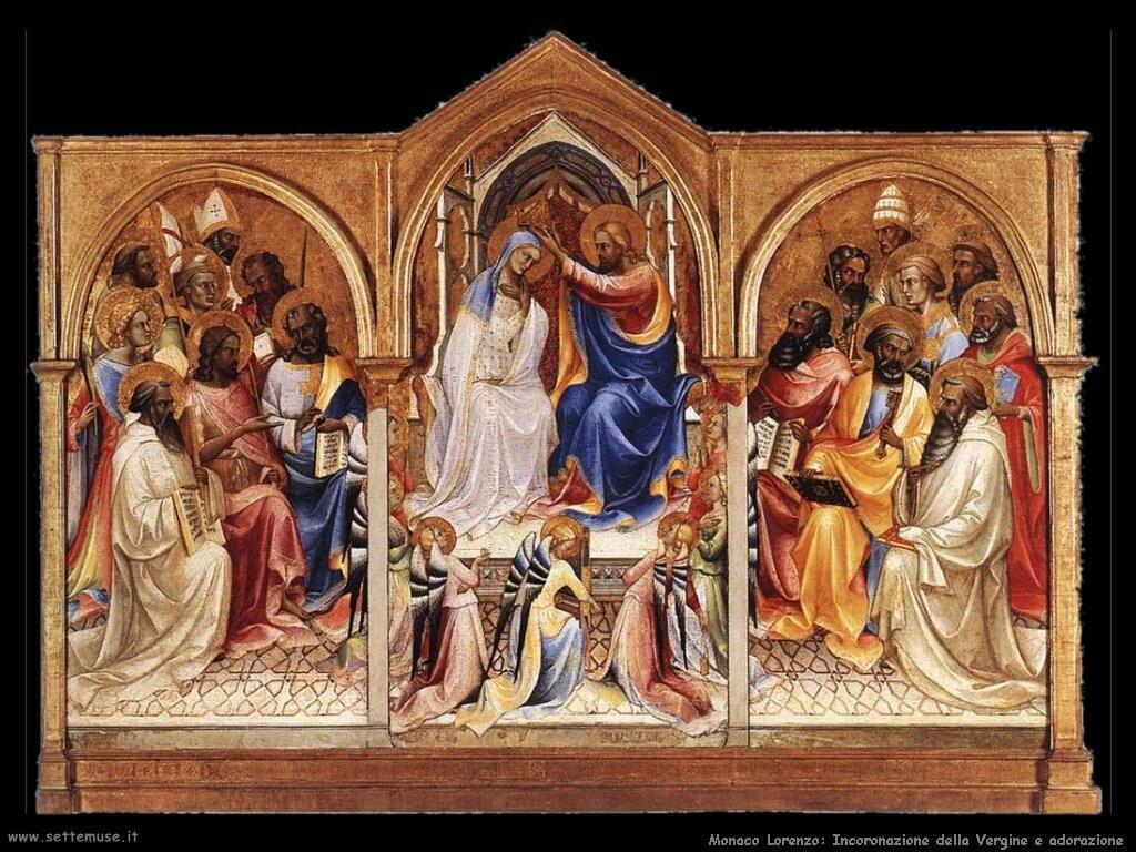 monaco lorenzo Incoronazione della Vergine e adoratori