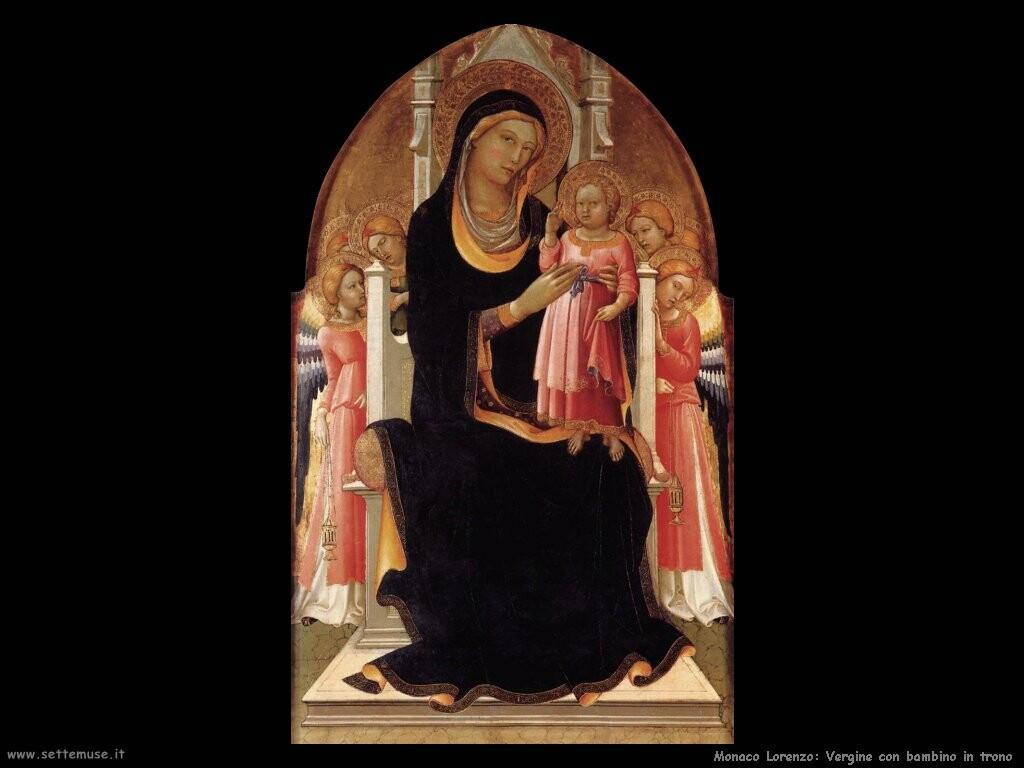 monaco lorenzo Vergine con bambino in trono con sei santi
