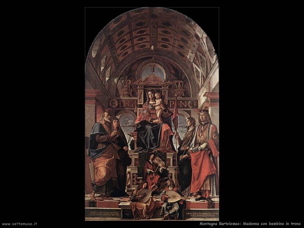 montagna bartolomeo Madonna con bambino in trono