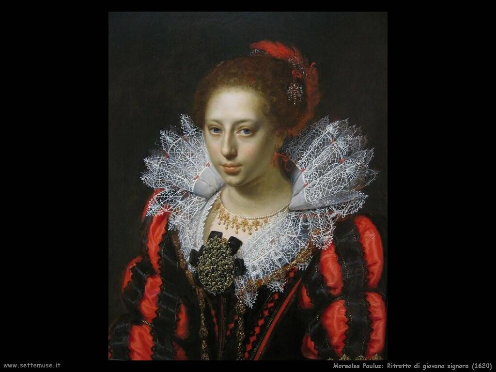 moreelse paulus  Ritratto di giovane signora (1620)