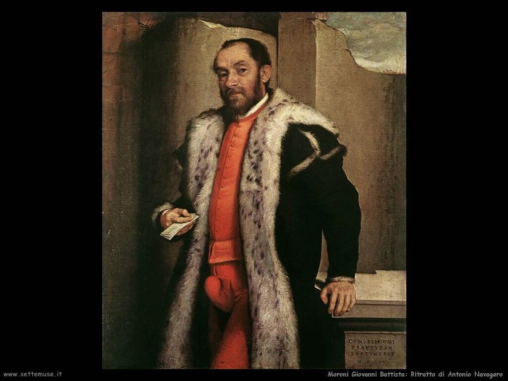 moroni giovanni battista Ritratto di Antonio Navagero