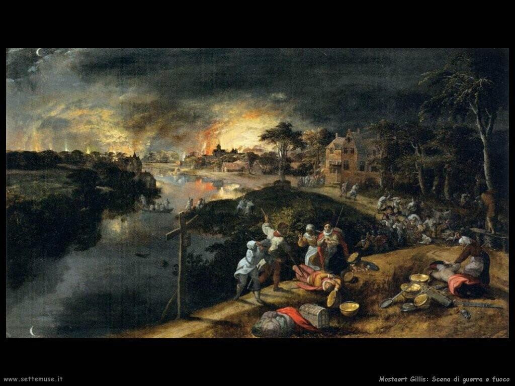 mostaert gillis Scene di guerra e fuoco