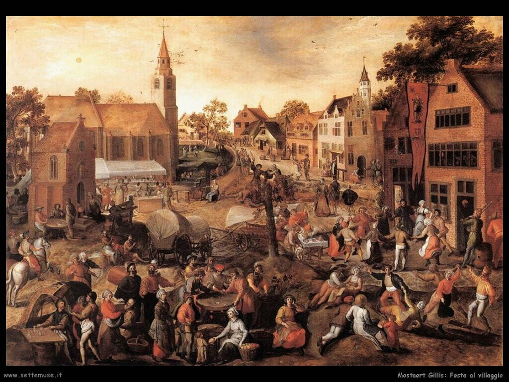 mostaert gillis  Festa del villaggio