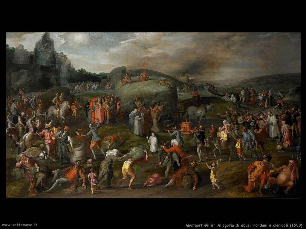 mostaert gillis Allegoria di abusi mondani e clericali (1580)