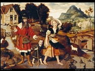 mostaert jan Abraham e Hagar
