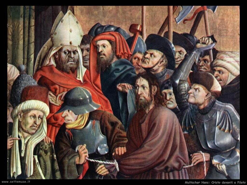 multscher hans Cristo davanti a Pilato (dett)