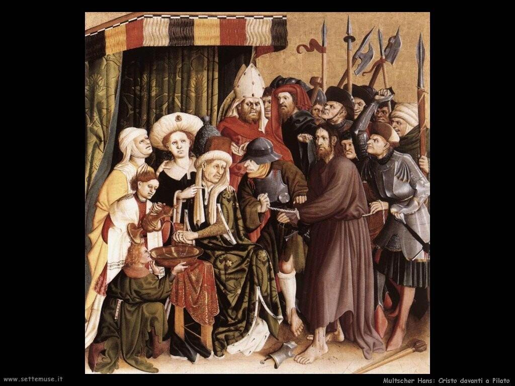 multscher hans Cristo davanti a Pilato