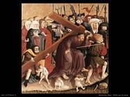 multscher hans Cristo porta la croce