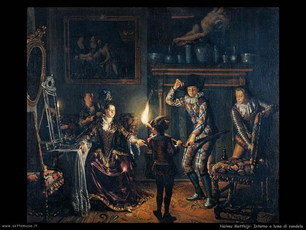 naiveu matthijs Interno a lume di candela