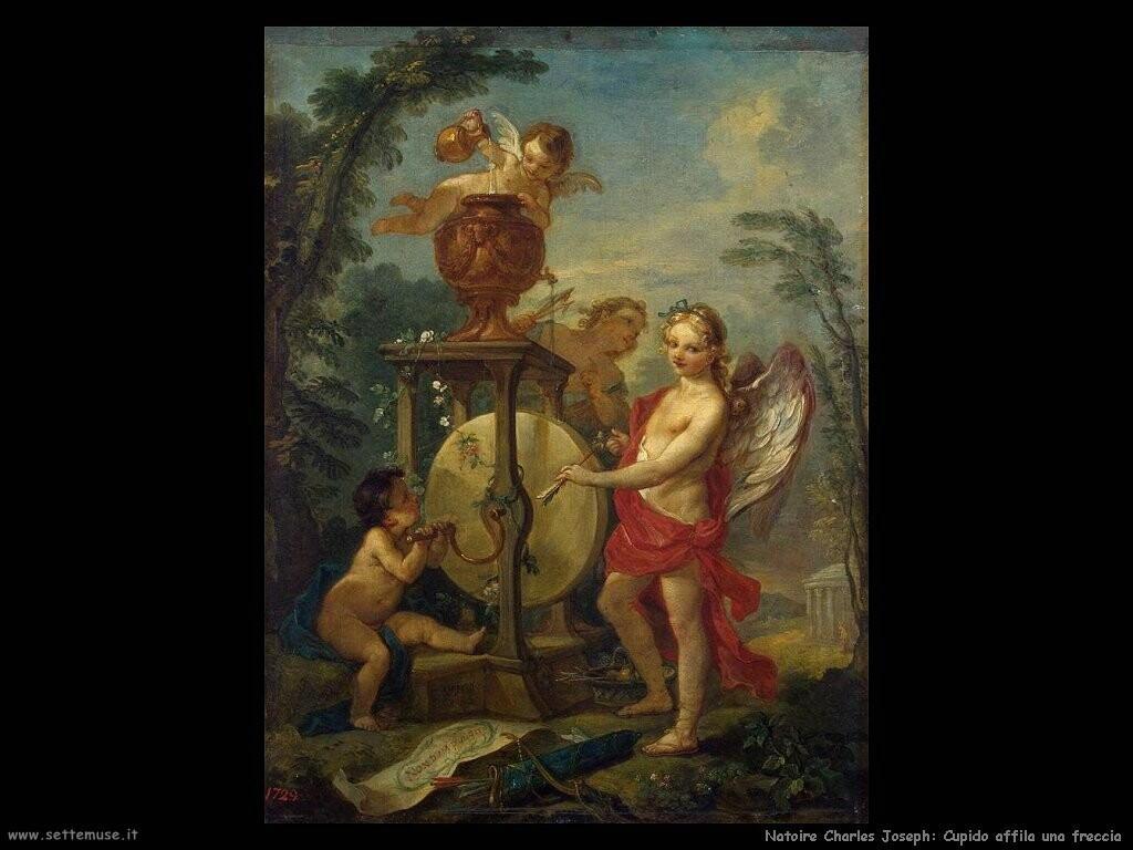 natoire charles joseph  Cupido affila una freccia