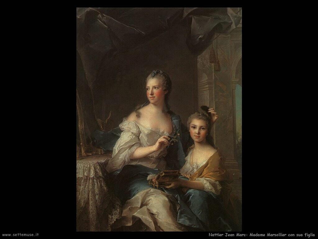 nattier jean marc  Madame Marsollier e sua figlia