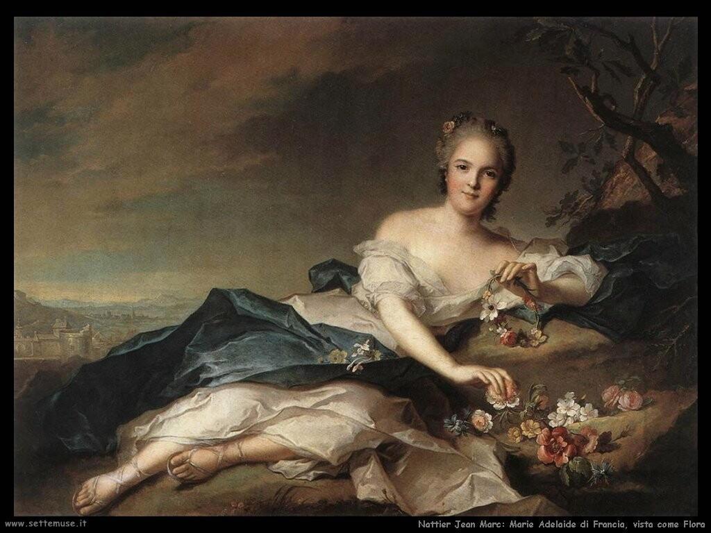 nattier jean marc  Marie Adelaide di Francia vista come Flora
