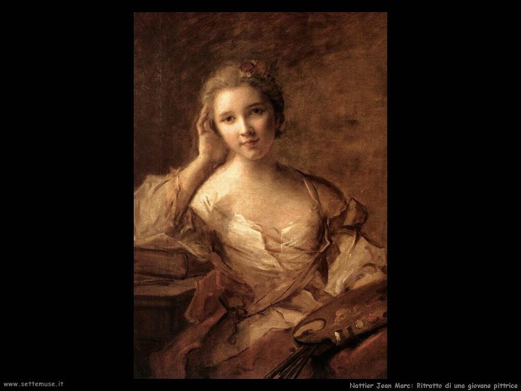 nattier jean marc Ritratto di una giovane pittrice
