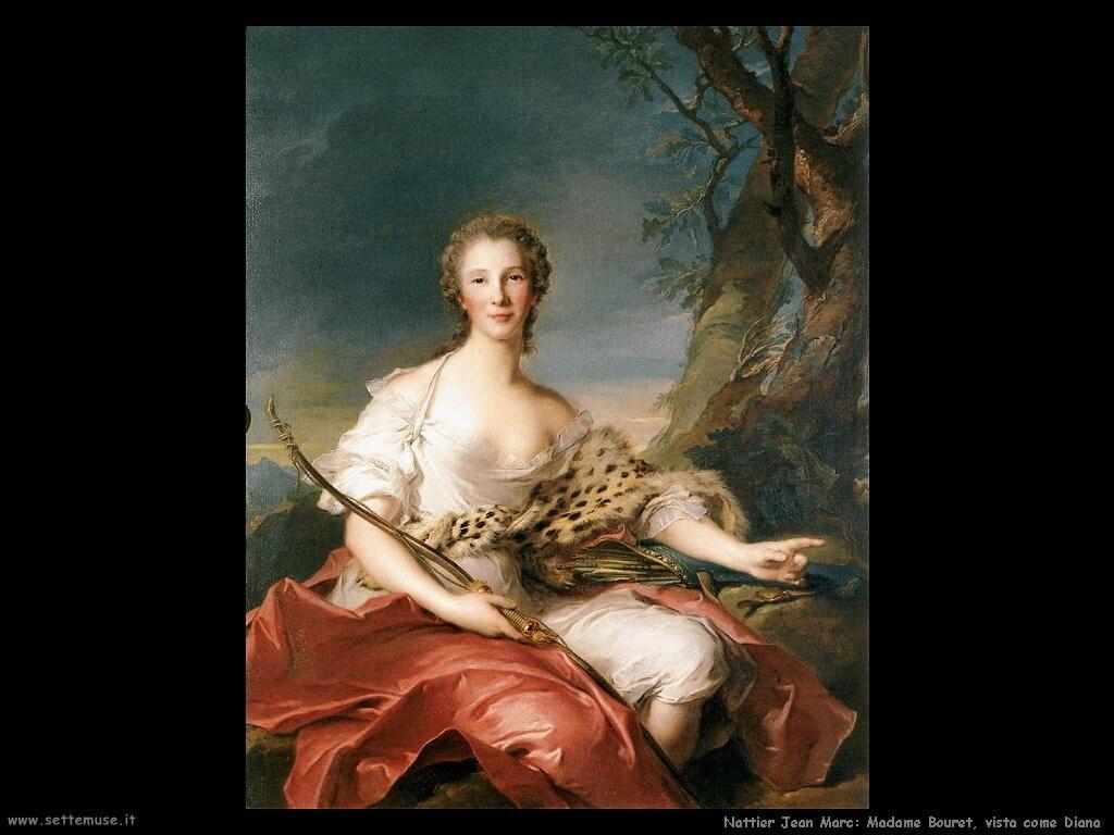 nattier jean marc  Madame Bouret vista come Diana