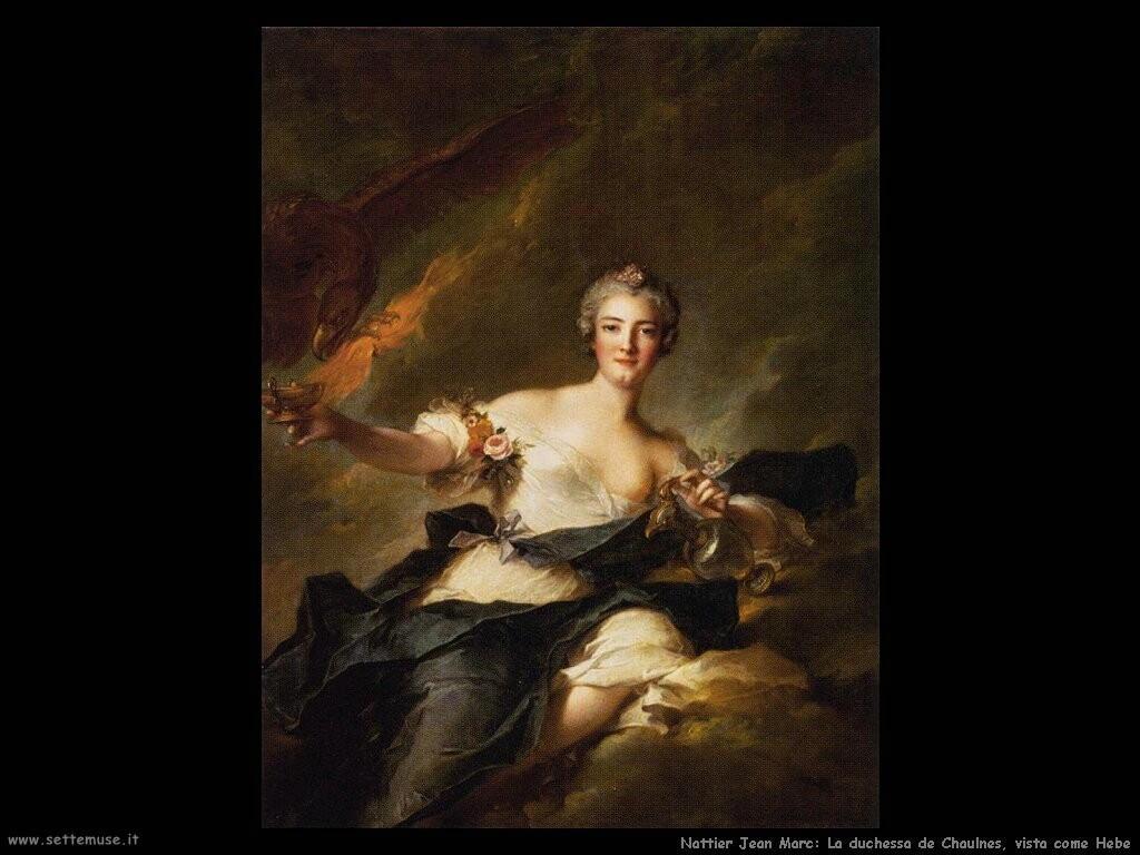 nattier jean marc  Duchessa de Chaulnes vista come Hebe