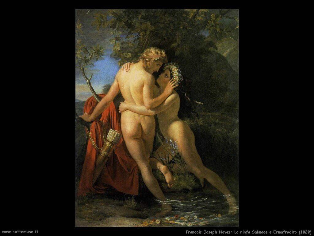 navez francois joseph La ninfa Salmace e Ermafrodito (1829)