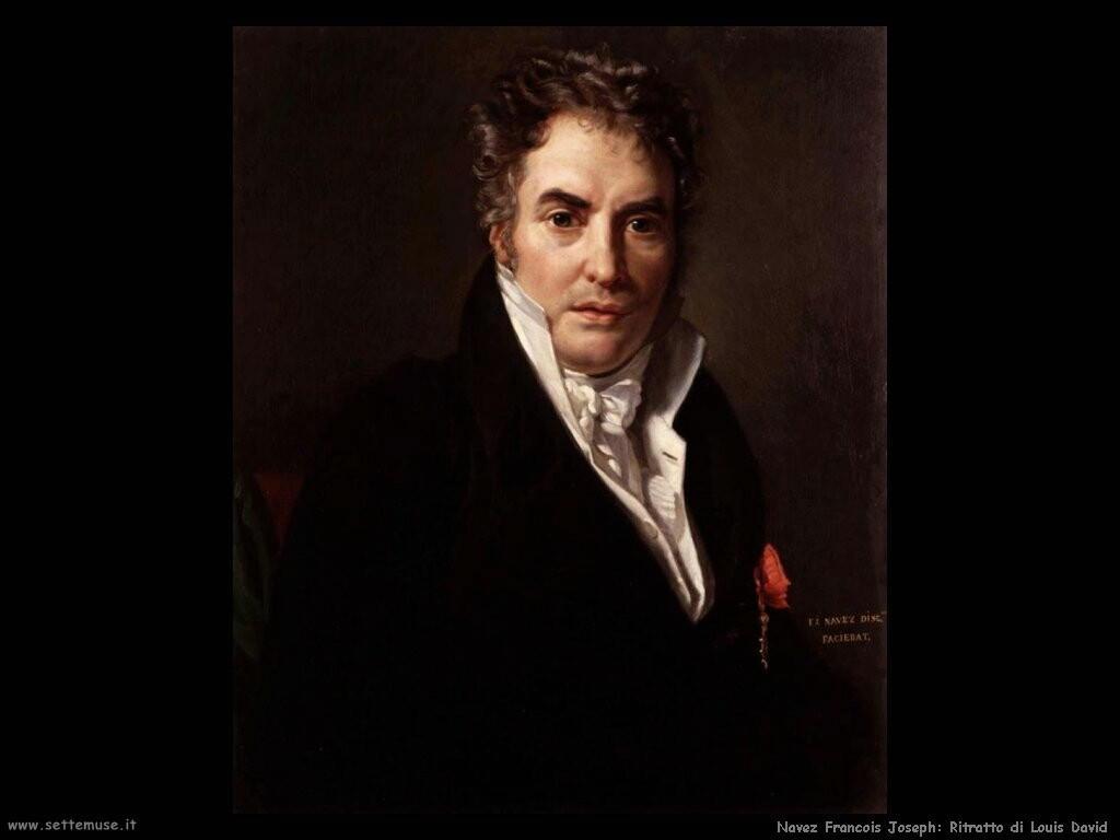 navez francois joseph Ritratto di Jacques Louis David