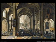 neefs peeter the elder Interno di cattedrale gotica