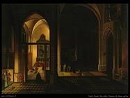 neefs peeter the elder  Interno di chiesa gotica