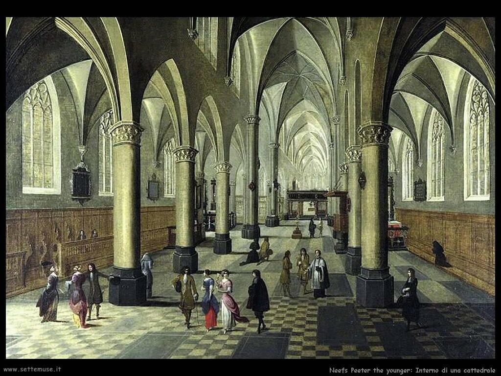 neefs peeter the younger Interno di cattedrale