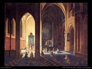 peter neeffs the elder Interno di chiesa gotica