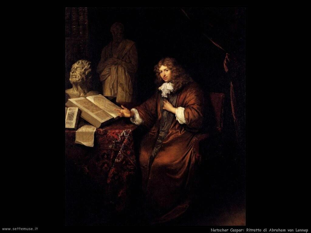 netscher caspar Ritratto di Abraham van Lennep