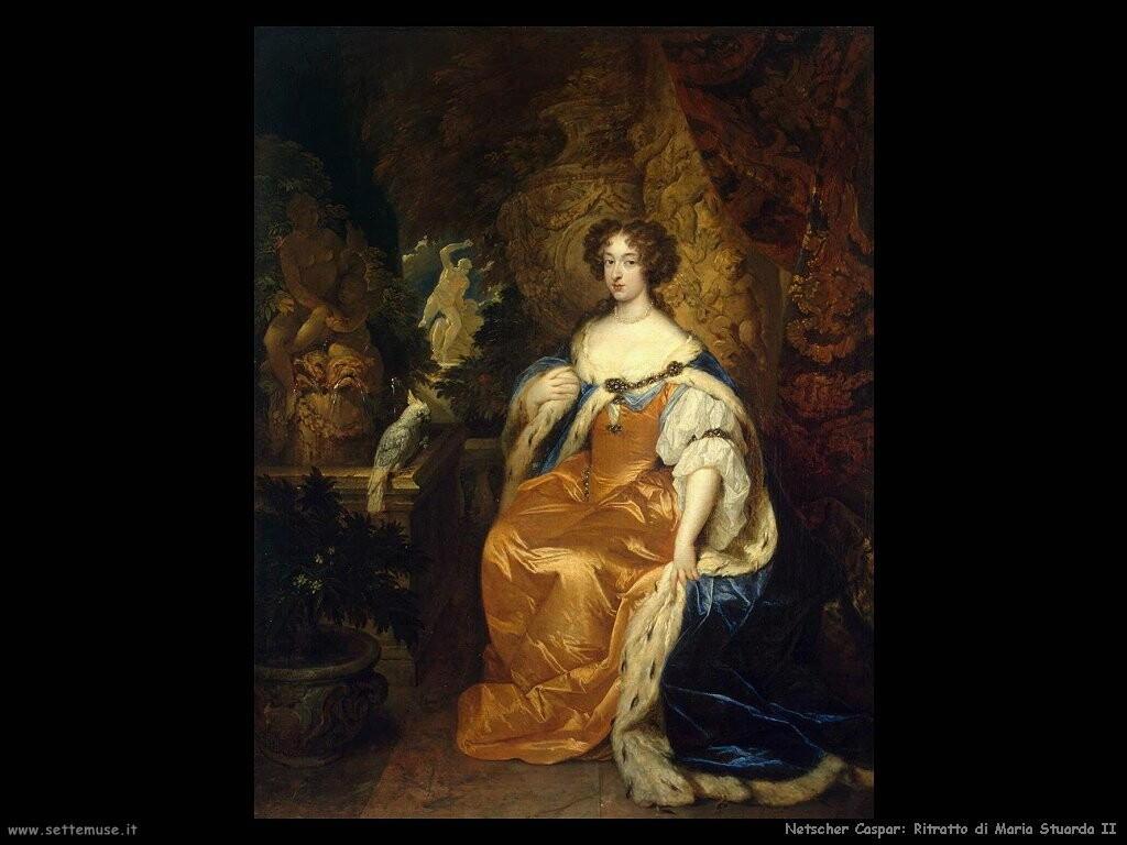 netscher caspar Ritratto di Mary Stuart