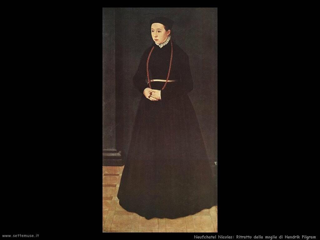 neufchatel nicolas Ritratto della moglie di Hendrik Pilgram