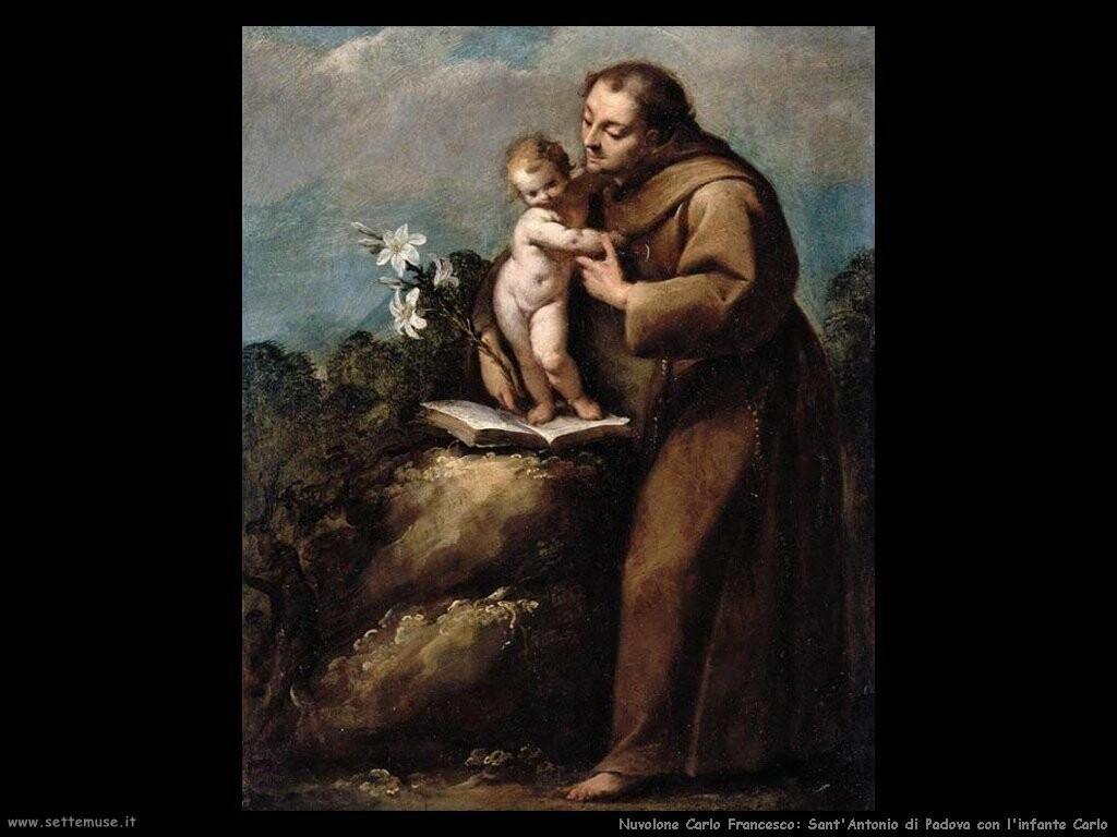 nuvolone carlo francesco Sant'Antonio di Padova e l'infante Carlo