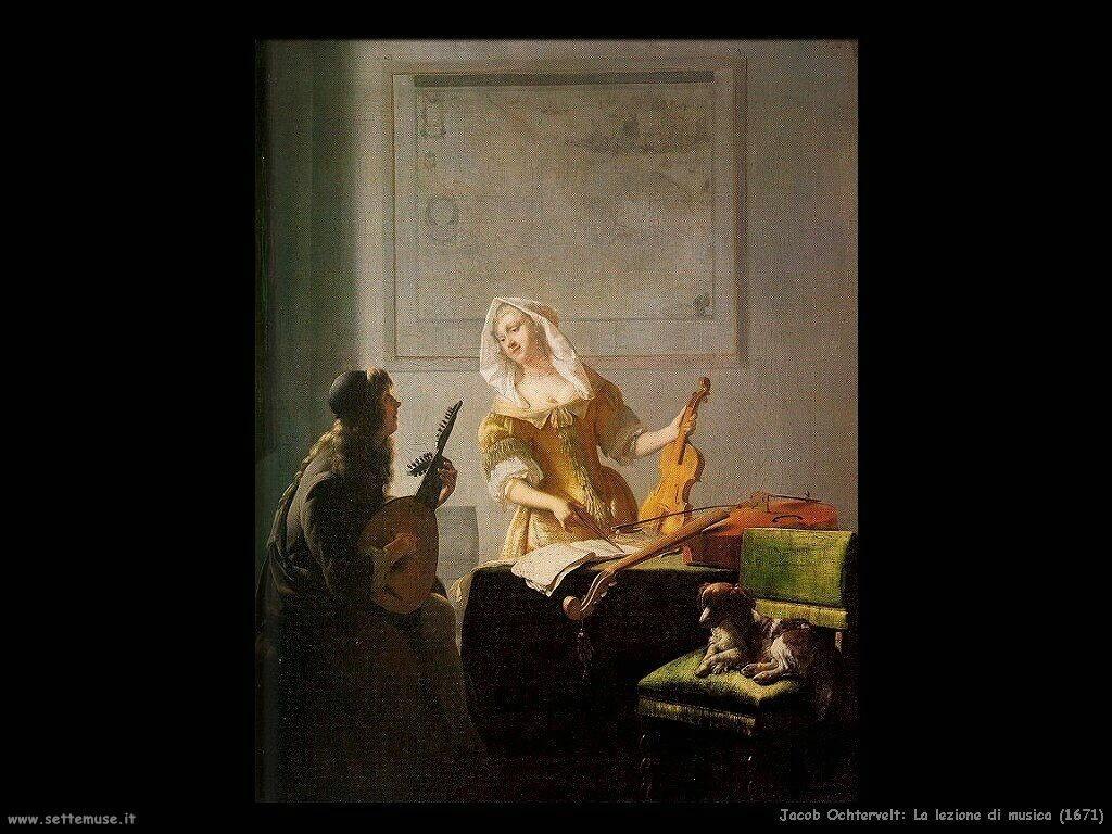 jacob ochtervelt La  lezione di musica (1671)