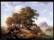 oehme ernst ferdinand Pomeriggio d'autunno in Boemia (1842)