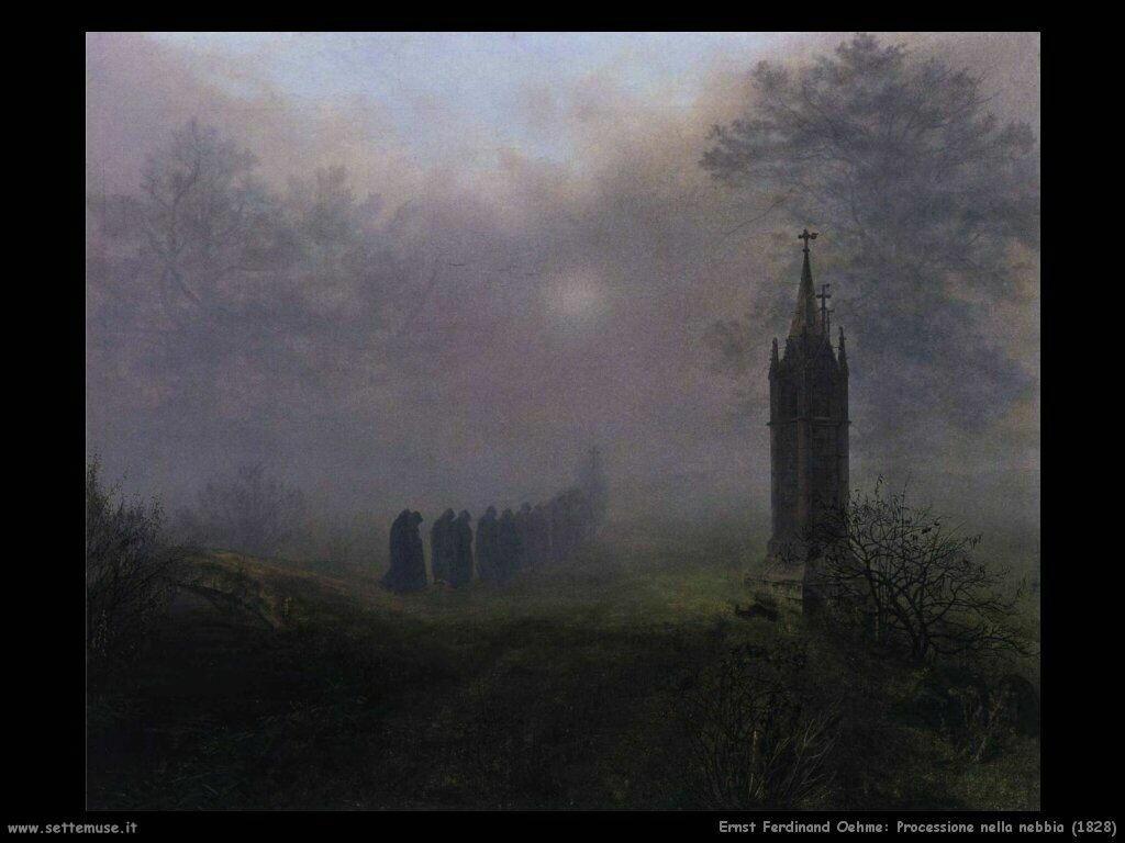 oehme ernst ferdinand Processione nella nebbia (1828)