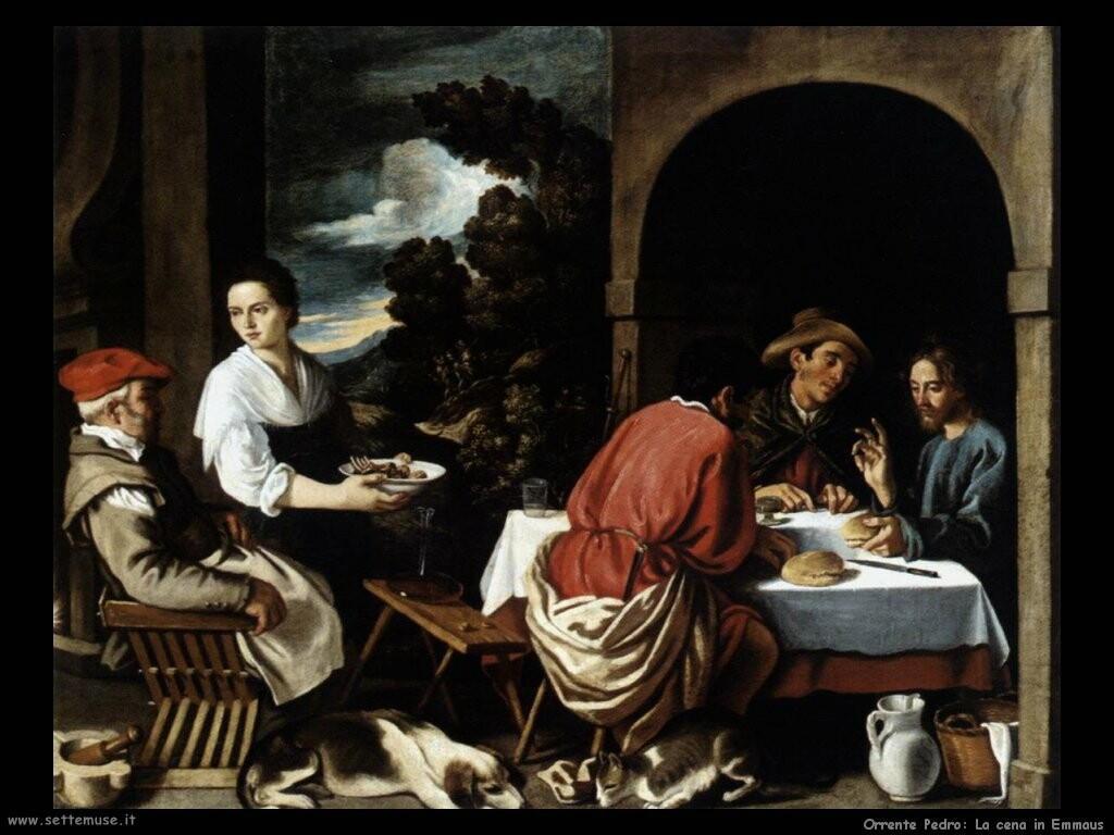 orrente pedro La cena a Emmaus