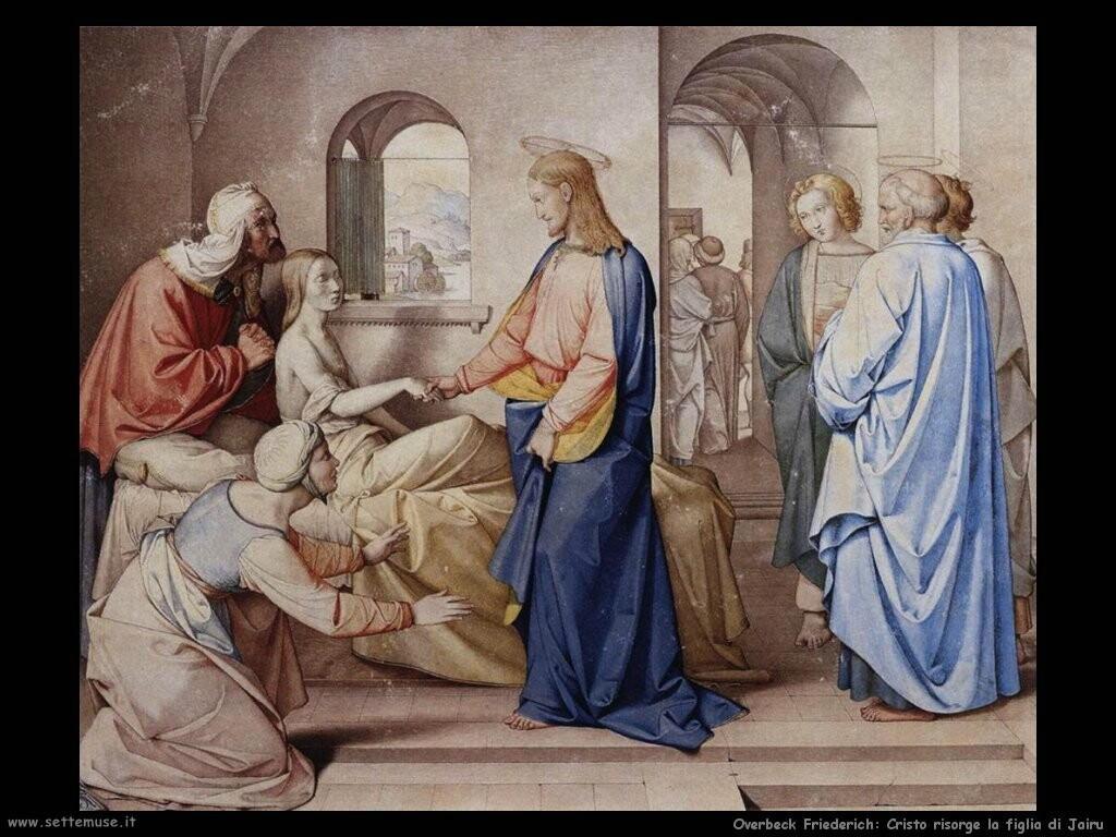overbeck friederich  Cristo risorge la figlia di Jairu