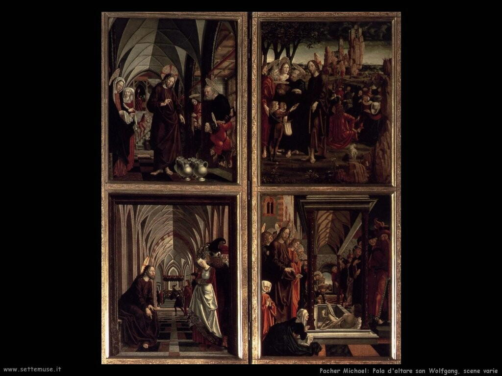 pacher michael San Wolfgang pala d'altare scene