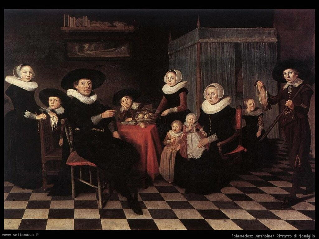 palamedesz anthonie  Ritratto di famiglia