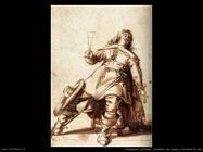 palamedesz anthonie Cavaliere seduto con spada e bicchiere sollevato