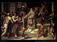 palma giovane  San Lorenzo dona le ricchezze ai poveri