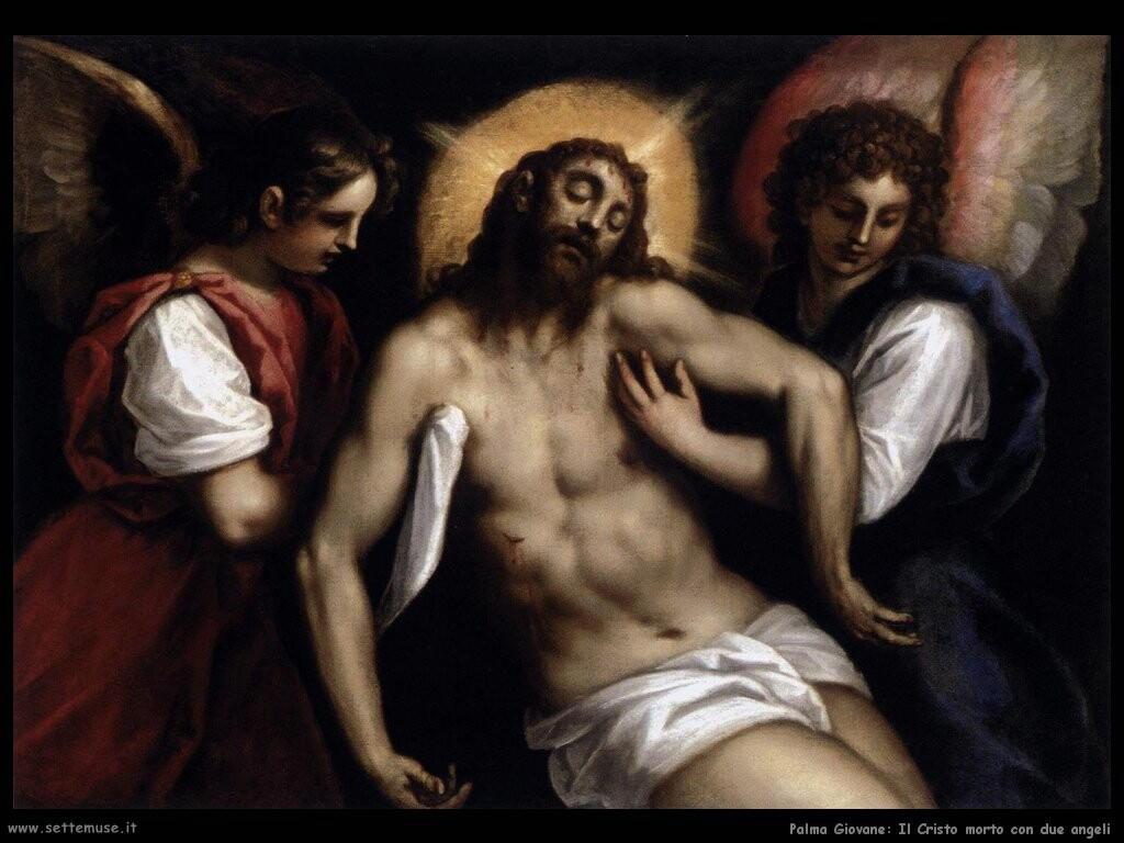 palma giovane Il Cristo morto con due angeli