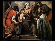 palma giovane  Vergine con bambino e santi