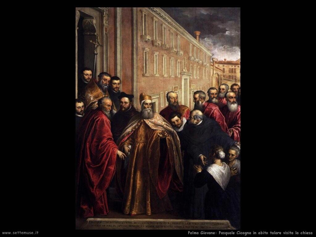 palma giovane Pasquale Cicogna in abito dogale visita la chiesa