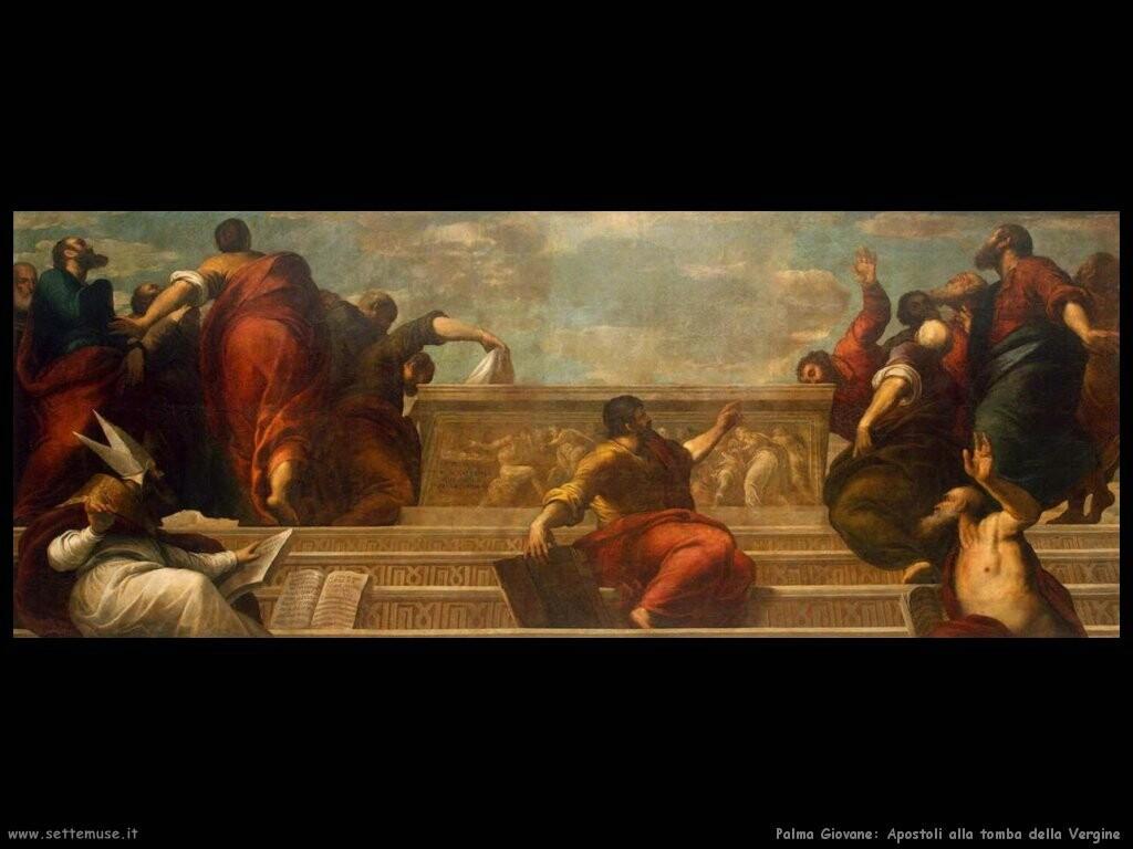 palma giovane Apostoli alla tomba della Vergine