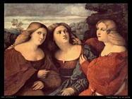 palma vecchio Le tre sorelle